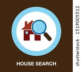 search house icon  property... | Shutterstock .eps vector #1519005512