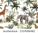 beautiful tropical vintage... | Shutterstock .eps vector #1519006982