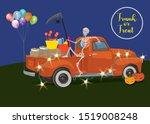 halloween trunk or treat... | Shutterstock .eps vector #1519008248