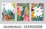 vector collection of trendy... | Shutterstock .eps vector #1519032008