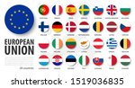 european union . eu and... | Shutterstock .eps vector #1519036835