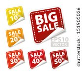 big sale square sticker with... | Shutterstock .eps vector #151905026