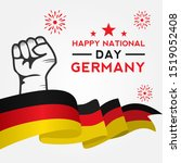 germany independence day vector ... | Shutterstock .eps vector #1519052408