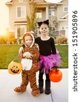 Kids Going Trick Or Treating O...