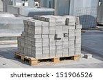 Stack Of White Silicate Brick...