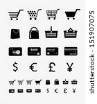 shopping icon set 4 | Shutterstock .eps vector #151907075