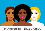 multi ethnic beauty. different... | Shutterstock .eps vector #1519072502