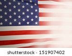 closeup of american flag fading ... | Shutterstock . vector #151907402