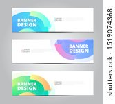 abstract banner design template ... | Shutterstock .eps vector #1519074368