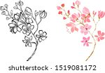 nature background with blossom... | Shutterstock .eps vector #1519081172