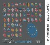 set of 56 fingerprints colored...   Shutterstock .eps vector #1519092968