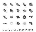 stainless steel flat glyph... | Shutterstock .eps vector #1519139192