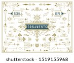 vintage set of swirls and... | Shutterstock .eps vector #1519155968