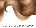 Natural Brown Hair Isolated On...