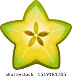 cartoon star fruit icon for...