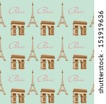 paris with love pattern | Shutterstock .eps vector #151919636