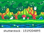 magic forest and cute animals....