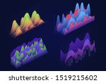 graphs  charts isometric vector ... | Shutterstock .eps vector #1519215602