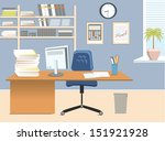 interior office room.vector... | Shutterstock .eps vector #151921928