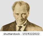 mustafa kemal ataturk   first... | Shutterstock . vector #1519222022