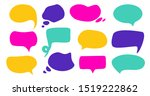 abstract speech bubbles. vector ... | Shutterstock .eps vector #1519222862