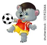 bear and ball | Shutterstock .eps vector #151922666