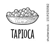 plate with tapioca ball....   Shutterstock .eps vector #1519250582