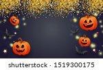 happy halloween sale banner... | Shutterstock .eps vector #1519300175