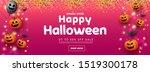happy halloween sale banner... | Shutterstock .eps vector #1519300178