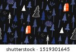 blue winter pattern with small...   Shutterstock .eps vector #1519301645