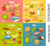 food groups set. protein and... | Shutterstock . vector #1519310645