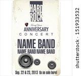 rock concert poster | Shutterstock .eps vector #151933532