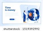 time is money flat web page...
