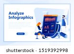 analyze infographic flat web...