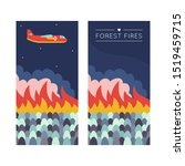 Forest Fire. Banner...