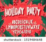christmas font. holiday... | Shutterstock .eps vector #1519484648