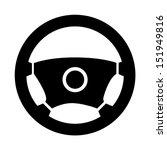 icon steering wheel | Shutterstock .eps vector #151949816