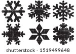 grunge textured snowflakes... | Shutterstock .eps vector #1519499648