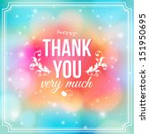 thank you card on soft colorful ... | Shutterstock .eps vector #151950695