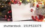 christmas background with fir... | Shutterstock . vector #1519523375