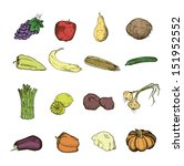 vegetables color. set of vector ... | Shutterstock .eps vector #151952552