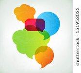 colorful vector speech bubbles... | Shutterstock .eps vector #151953032
