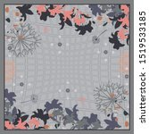 Scarf Pattern With Floral...