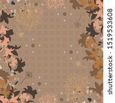 scarf pattern with floral... | Shutterstock .eps vector #1519533608