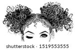 illustration with afro american ... | Shutterstock .eps vector #1519553555