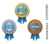 gold  silver and bronze awards. ... | Shutterstock .eps vector #151955585