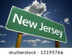 New Jersey Road Sign With...