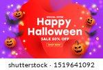 halloween template set of... | Shutterstock .eps vector #1519641092