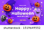 modern happy halloween sale... | Shutterstock .eps vector #1519649552