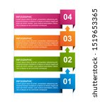 abstract options infographics... | Shutterstock .eps vector #1519653365